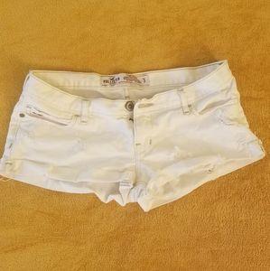 Hollister white denim shorts size 3